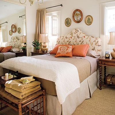 beautiful guest bedroom from Southern Living