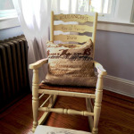 a rocking chair finished with Annie Sloan Chalk Paint