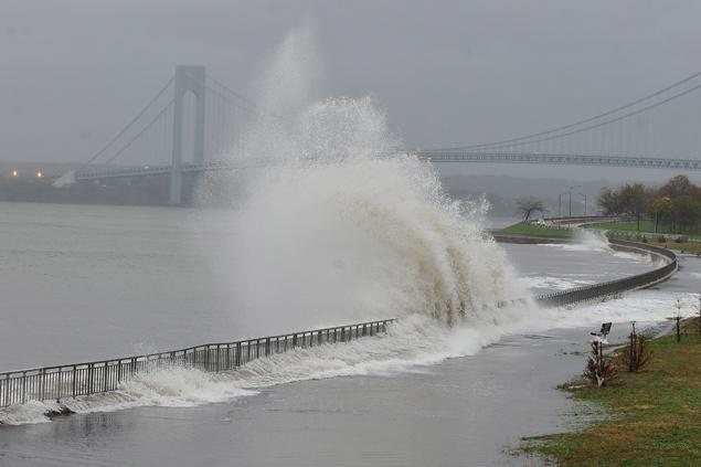 The Belt Parkway during Hurricane Sandy