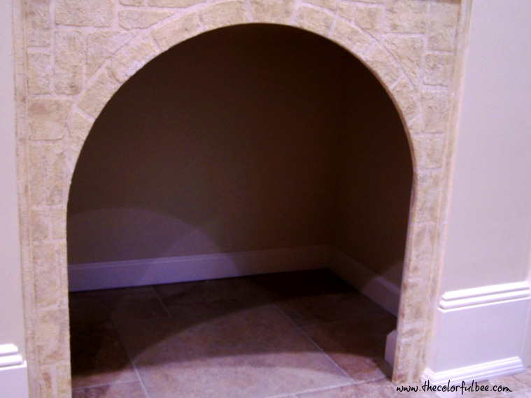 fauc cobblestone dog house from faux stone and textures