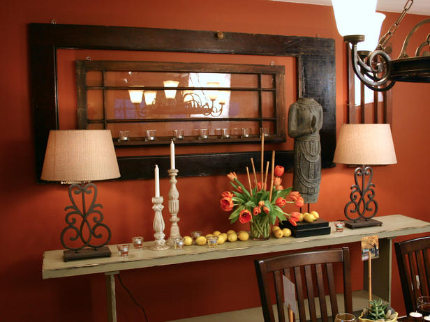 Warm Orange Entryway From Angelo Surmelis Of Hgtv