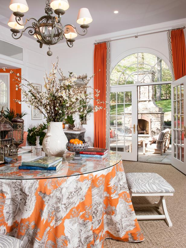 beautiful ornagerie by Kelley Proxmire, using orange in interior design