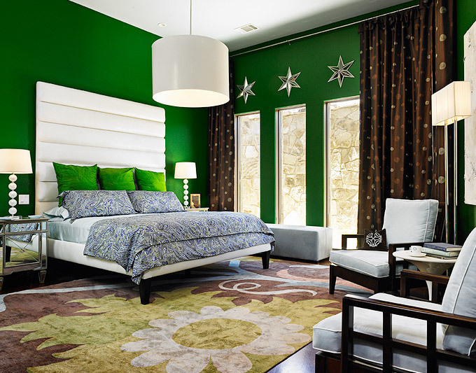 Emerald green room ideas archives the colorful beethe Master bedroom ideas green walls