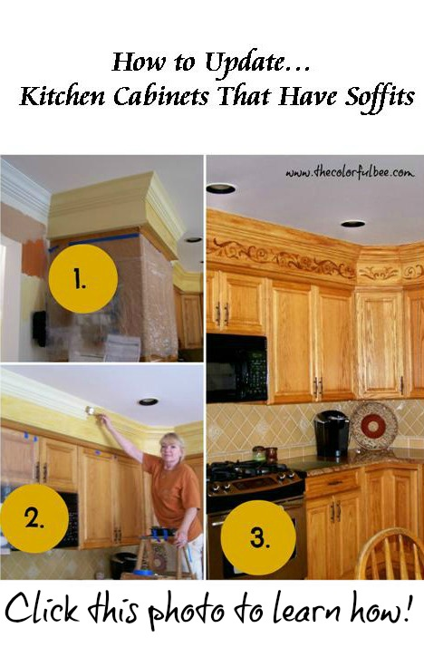 How to update kitchen soffits. Updating your kitchen; faux woodgraining