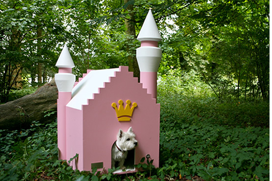 fairytale dog house, castle for a dog