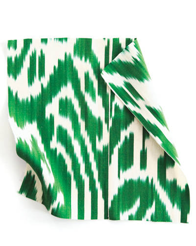 Luce, an emerald green fabric from Madelien Weinrib