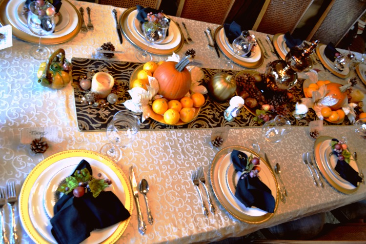 tablescape on an angle