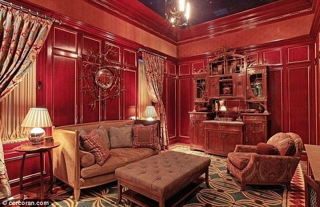 red room in town house; George Soros, Andrea Soros for sale by Corcoran Real Estate