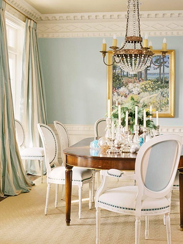 sky blue dining room