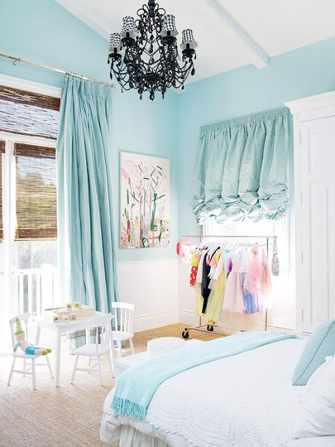 sky blue little girl's room