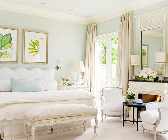 soft sky blue bedroom