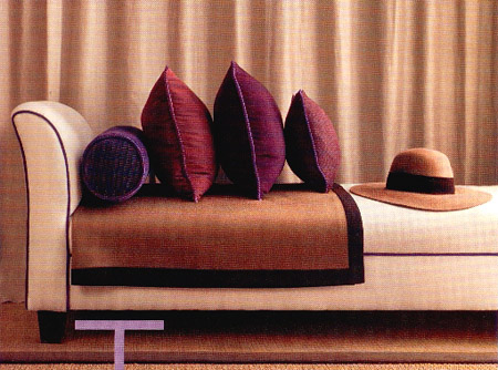 use eggplant and plum in your pillows and accessories