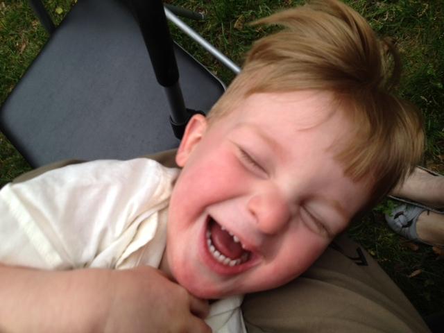Sean laughing