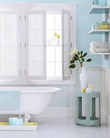 sky blue bath