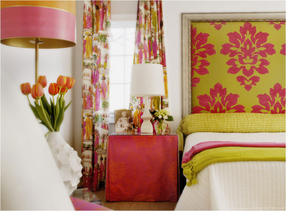 Color roundup chartreuse lime and apple green in for Pink green bedroom designs