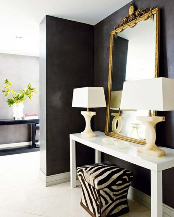 using black in an entryway