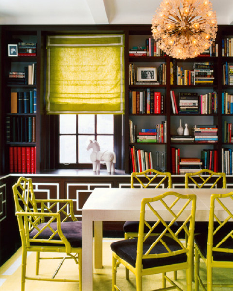 Janathan Adlers's pop of color in the chairs