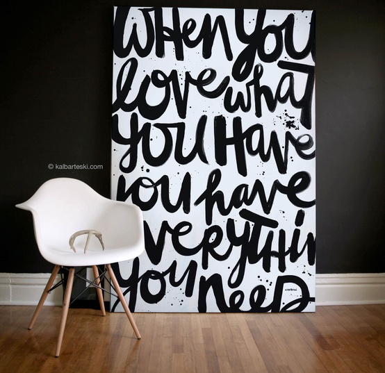 use black in artwork for your walls
