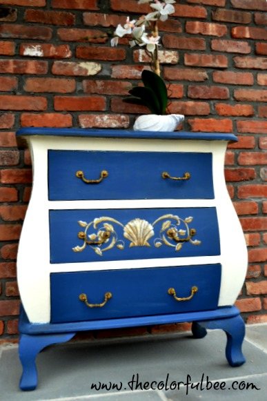 a revamped bombe chest done with Annie Sloan Chalk Paints