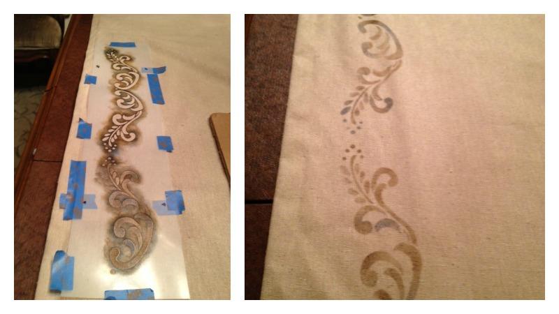 stencilling draperies