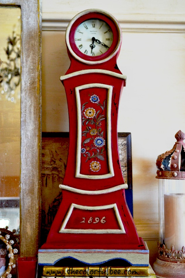 repainted and antique Mora clock