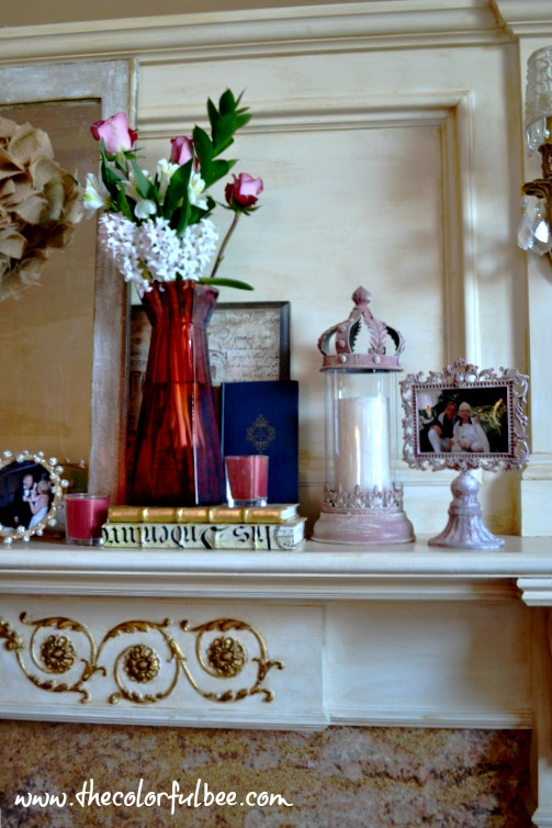 left side of Valentines mantle