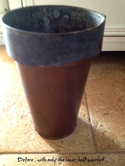 small metal vase before antiquing and rusting