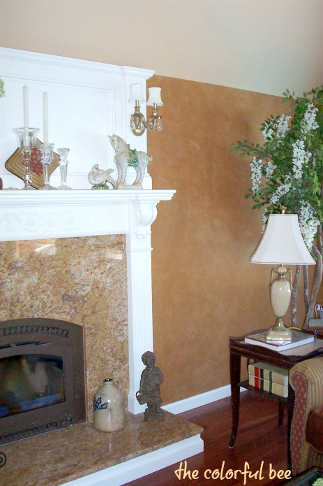 fireplace mantle with corbels in off white