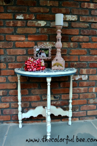 demilune table painted with Annie Sloan Chalk Paints