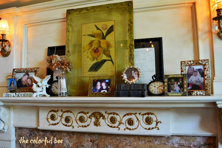changing the look of a fireplace mantle