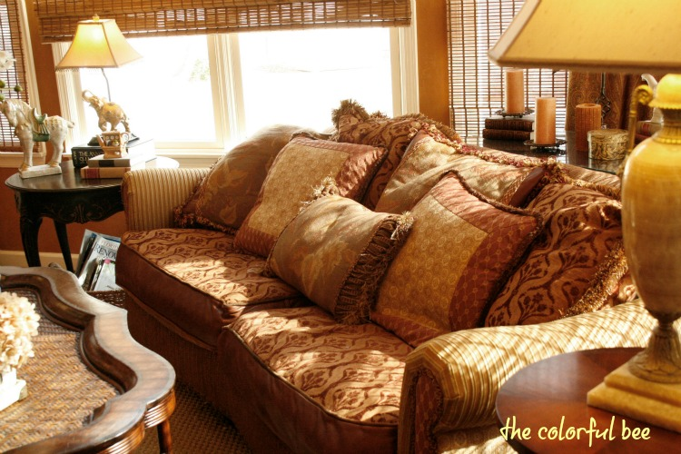 relaxed sofa in the great room