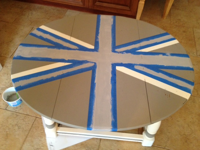 Chalk Paint on Union Jack table