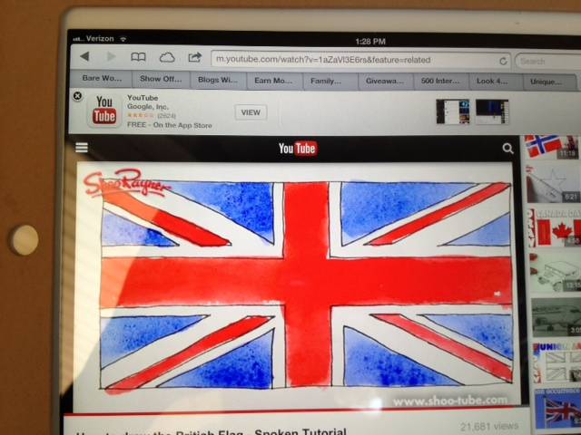 how to draw the Union Flag video on Youtube