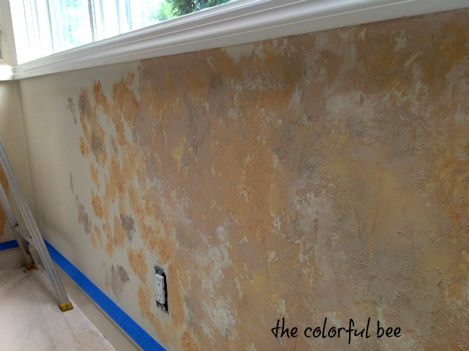 Fixing a Tuscan plaster wall after a kitchen renovation