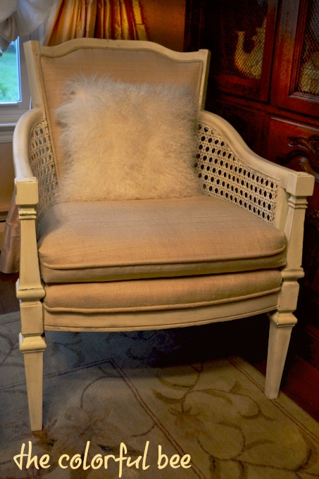 chair refinishing with Annie Slaon Chalk Paint and Miss Mustard Seed waxes