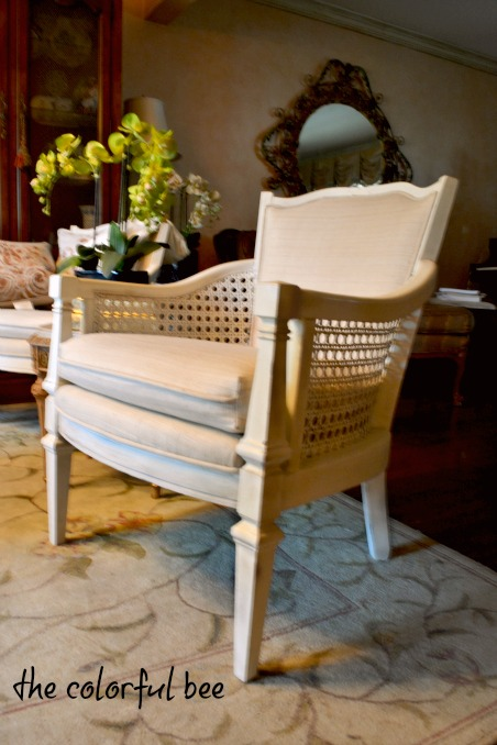 revamped chiar with Annie Sloan Chalk Paint and Miss Mustardseed waxes