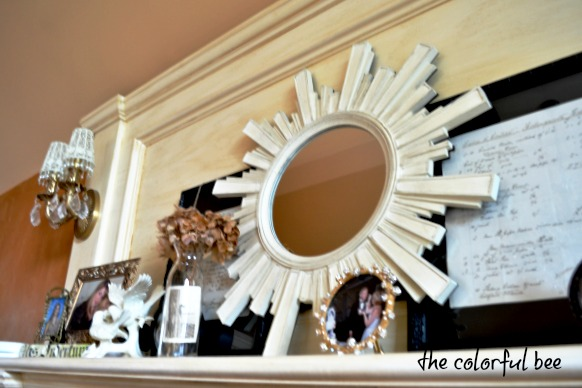 an inexpensive mirror from HomeGoods transformed