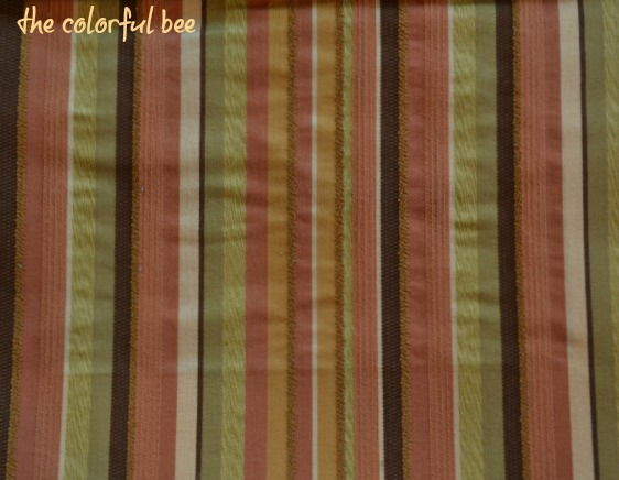 Robert Allen striped fabric Abide in Clay color