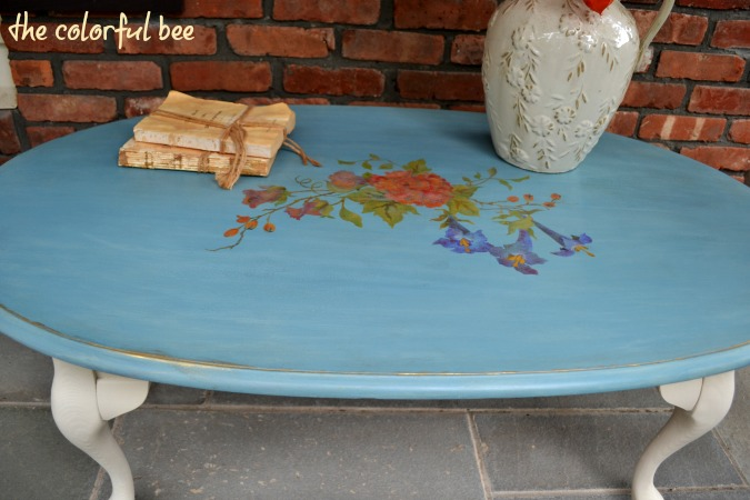 Louis Blue Chalk Paint coffee table