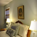 a serene bedroom in Woodlawn blue