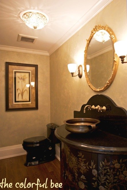LusterStone metallic plaster powder room
