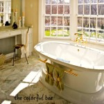 staged master bath in a 3.5 million home