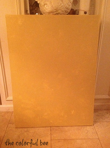 full coat of metallic plaster on canvas