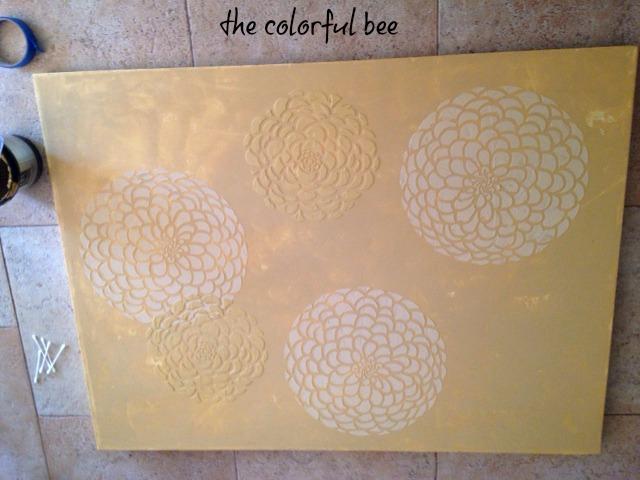 creating a raised stencil artwork