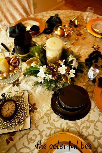 table setting for New Years