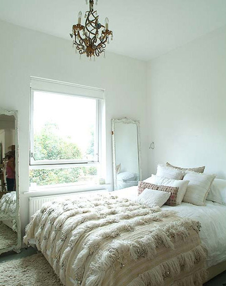 Varying Shades Of White And Off White And Texture In A Beautiful Bedroom