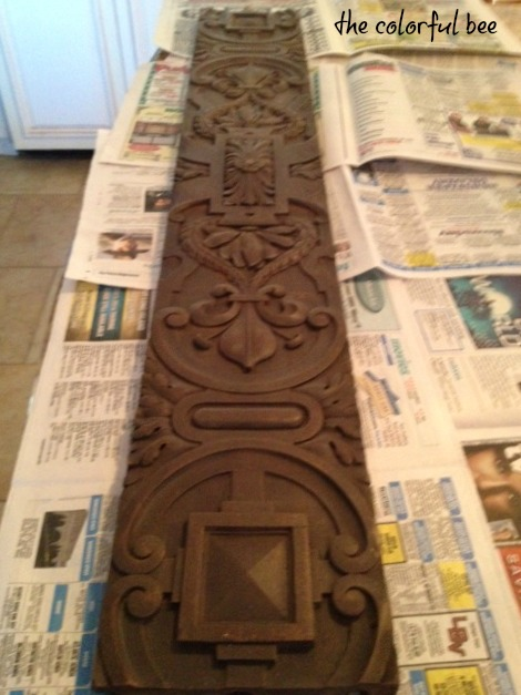 antique ornamental board before