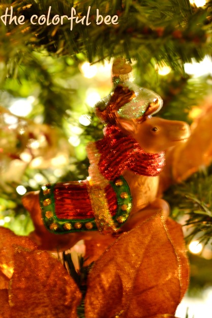 horse Christmas ornament in tree