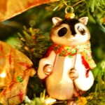 Racoon ornament in Christmas tree