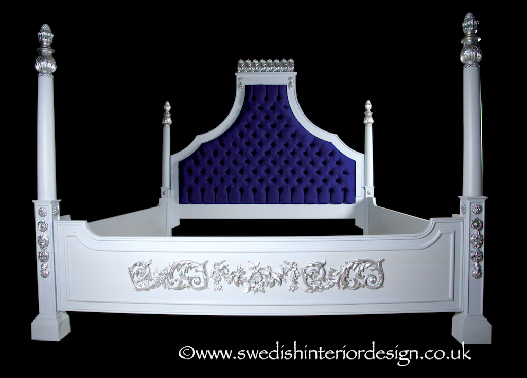 Swedish handmade bespoke king bed
